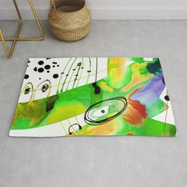 Abstract Serenade 4b by Kathy Morton Stanion Rug
