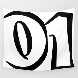 01 black on white Wall Tapestry