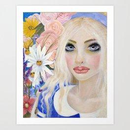 Alice in Wonderland, Alice Art Art Print