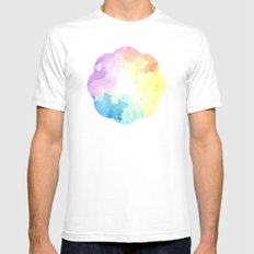 watercolor Mens Fitted Tee White SMALL