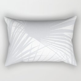 Pale Grey Tropical Leaves Rectangular Pillow