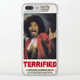 TERRIFIED Clear iPhone Case