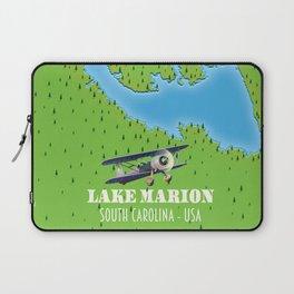 lake marion South Carolina lake map Laptop Sleeve