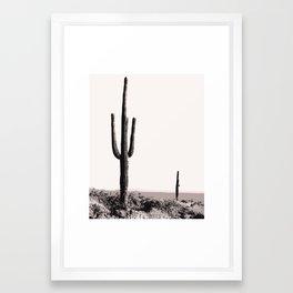 Wild wild west cactus wall art Framed Art Print