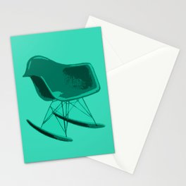 Rocker Chair Blue Stationery Cards