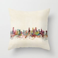 chicago illinois Throw Pillow