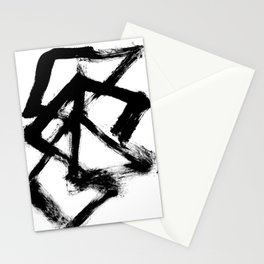 Brushstroke 5 - a simple black and white ink design Stationery Cards