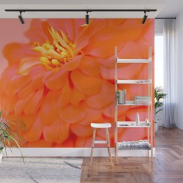 Spring blooming flowers on pink Wall Mural