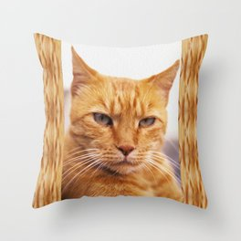 Pissed Ginger Throw Pillow