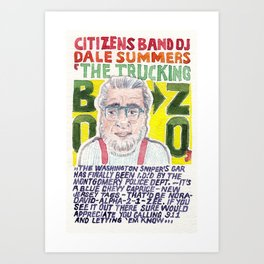 The Trucking Bozo Art Print
