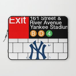 NYC Yankees Subway Laptop Sleeve