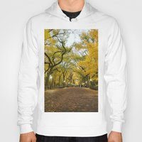 literary Hoodies featuring Central Park New York City by Vivienne Gucwa
