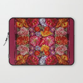 """""""Rose Huipil Embroidered"""" Laptop Sleeve"""