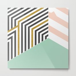 Mint&Gold Room #society6 #decor #buyart Metal Print