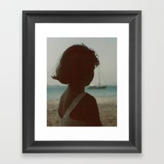 LOVE SEA Framed Art Print