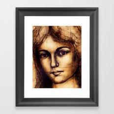 Antiqued Framed Art Print