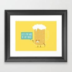 Life too short.. Framed Art Print