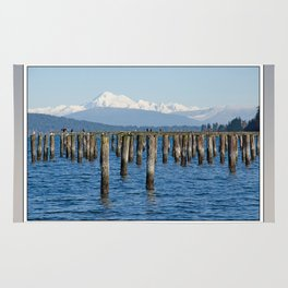 MOUNT BAKER KOMA KULSHAN AND OLD PILINGS  Rug