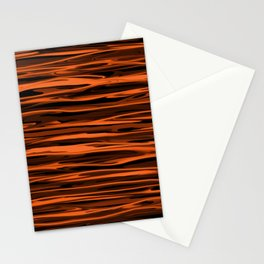 Harvest Orange Abstract Lines Stationery Cards