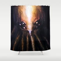 cthulhu Shower Curtains featuring Cthulhu by JeyJey Artworks