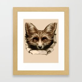 Hallo Fuchs! Mixed Media Art Framed Art Print