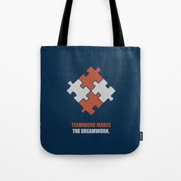 Lab No. 4 - Teamwork makes the dreamwork corporate start-up quotes Poster Tote Bag