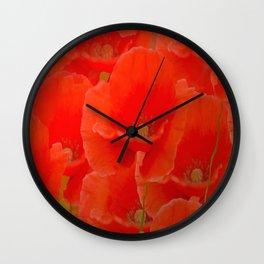 Red Poppies #decor #buyart #society6 Wall Clock