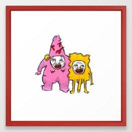 Spongebob No Pants Framed Art Print