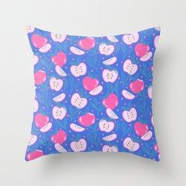 Happy Apples Throw Pillow