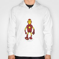 bender Hoodies featuring Iron Bender by Andy Whittingham