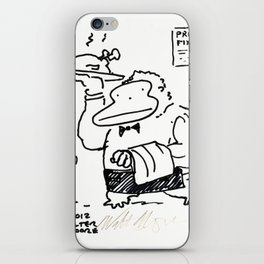 Ape Waiter Brings Tray to Table iPhone Skin