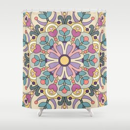 Happiness is Now Mandala Shower Curtain