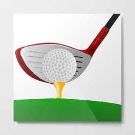 Teeing Off Golf Metal Print