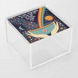 You have given enough Acrylic Box