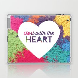 Start With The Heart Quote Print Laptop & iPad Skin