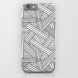 Sketchy Abstract (Grey & White Pattern) iPhone Case