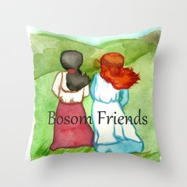 Bosom Friends Anne oF Green Gables Throw Pillow