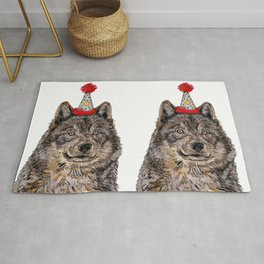 Wolf Party Rug