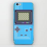 gameboy iPhone & iPod Skins featuring Pixel Gameboy by Matt Borchert