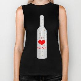 I Love Wine Biker Tank