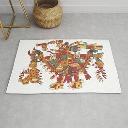 Aztec Inca God Graphic Rug