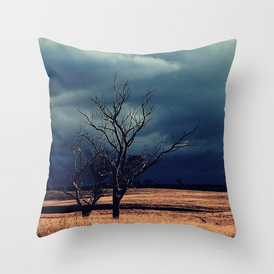 The relief of an Aussie drover Throw Pillow