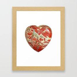 Big Red Jasper Heart - Side 1 Framed Art Print