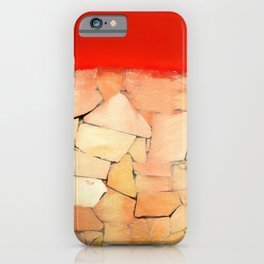 Urban Tiled Wall and Red Paint iPhone Case