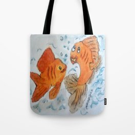 Silly goldfish Tote Bag