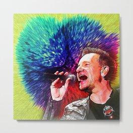 U2 / Bono 3 Metal Print
