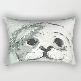 White Seal Rectangular Pillow