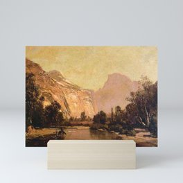 Piute Indians Royal Arches And Domes Yosemite Valley 1879 By Thomas Hill | Reproduction Mini Art Print