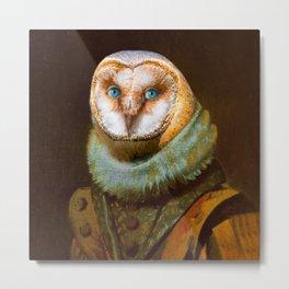 Animals - Funny Owl Painting Metal Print