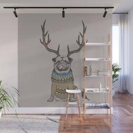 Deer Pug Wall Mural